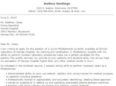 certified phlebotomist cover letter