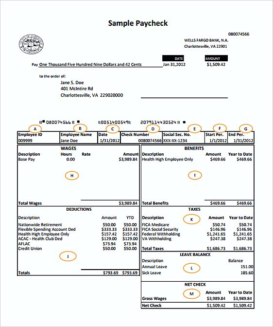 Pages Invoice Template – Payroll Invoice Template