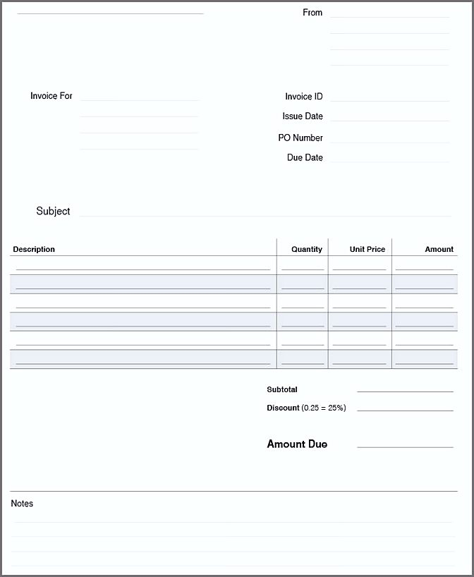 business invoice