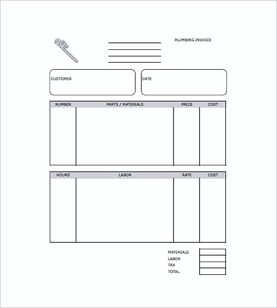 plumbers invoice templates free