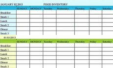 Permalink to Free Download Food Inventory Templates