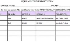 Permalink to Sample Equipment Inventory Templates