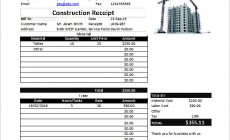 Permalink to Construction Invoice Templates for Professional Services