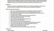 Permalink to Web Developer Resume Sample and Tips