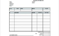 Permalink to 6+ Auto Repair Invoice Template