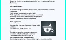Permalink to What Objectives to Mention in Certified Pharmacy Technician Resume