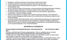 Permalink to Sophisticated Job for This Unbeatable Biotech Resume