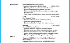 Permalink to Learning to Write from a Concise Bank Teller Resume Sample