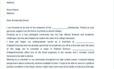 Permalink to Scholarship Thank You Letter for Further Gratitude